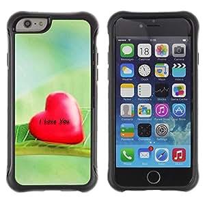 Pulsar Defender Series Tpu silicona Carcasa Funda Case para Apple iPhone 6 Plus(5.5 inches), Love I Love You