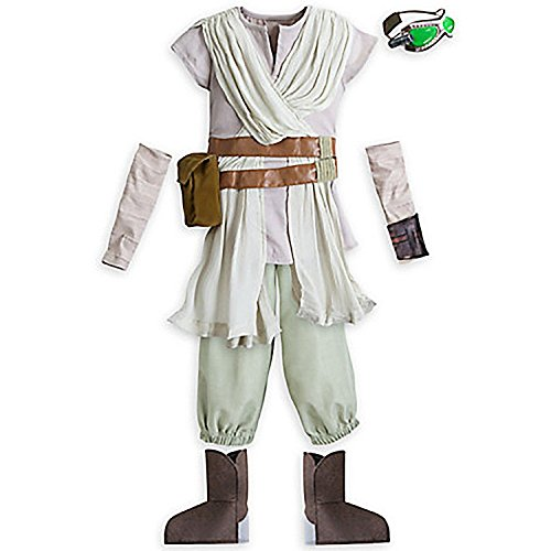 Disney Girls Star Wars The Force Awakens Rey Costume Size 5/6