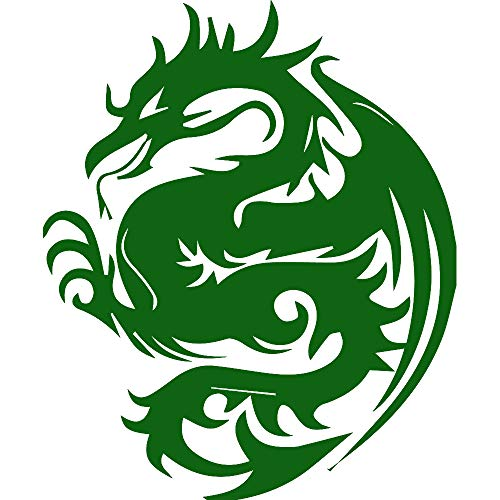 - USCLIFESTYLE Dragon Silhouette 5 (Green) (Set of 2) Premium Waterproof Vinyl Decal Stickers for Laptop MacBook Phone Tablet Helmet Car Window Bumper Mug Tuber Cup Door Wall Decoration