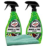 Turtle Wax Heavy Duty All Wheel & Tire Cleaner (23 oz) Bundle with Microfiber Cloth (3 Items)