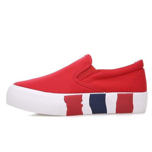 Zapatos de lona de color sólido en verano y el otoño/ zapatos casuales simple/Zapatos de suela gruesa/Mocasín/Zapatos del estudiante: Amazon.es: Zapatos y ...