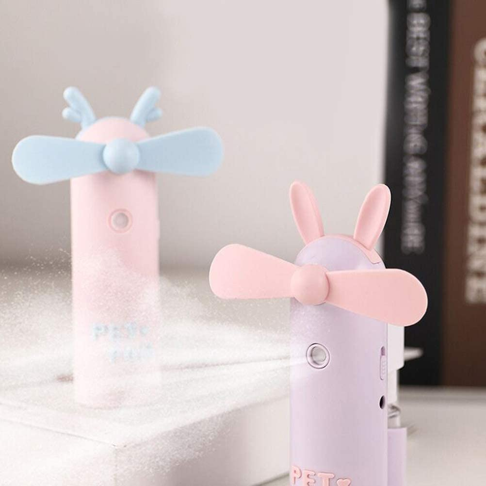 Little Deer Shape Random Color Toyvian Handheld Mini Fan Portable Folding Pocket Fan USB Rechargeable Desk Fan Small Travel Fans for Home Travel Camping
