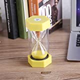 Colorful Sand Timers Hourglass for Home Office Decor Gift Sand Glass Hourglass 3/10/20/30/60 Minutes Timer Clock (3 mins, Yellow)