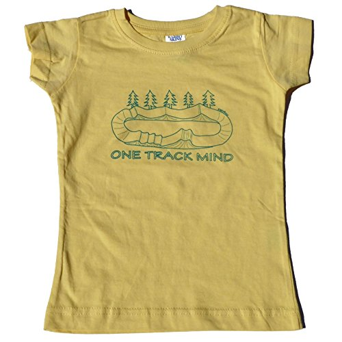 ZippyRooz Toddler & Kids BMX Bike Tee Shirt One Track Mind For Youth Girls (3T)