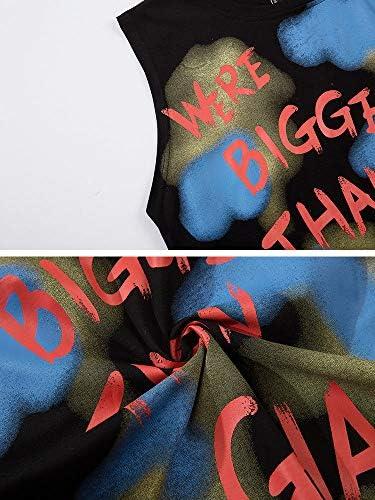 タンクトップ メンズ ノースリーブ おおきいサイズ ストリート系ファッション 春夏 ダンス 衣装 韓国 HIPHOP B系 アメカジ レディース カジュアル 流行 トレンド ロゴ 2XL,【ホワイト】White MTS821BSK