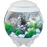 biOrb HALO 15 Aquarium with MCR LED Light - 4 Gallon, White