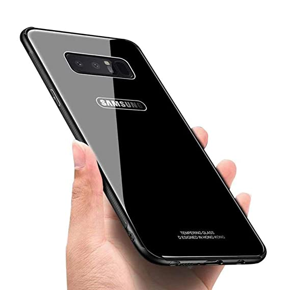 new concept ebd4f 0bf48 Samsung Galaxy Note 8 Case,Luhuanx Note 8 Glass Case,Tempered Glass Back  Cover + TPU Frame Hybrid Shell Slim Case Note 8,Galaxy Note 8 Case, ...