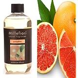 Millefiori 7REPO Pompelmo Nachfüllflasche 500 ml für Raumduft Diffuser Natural, Plastik, Gelb, 7.6 x 6.5 x 17.7 cm
