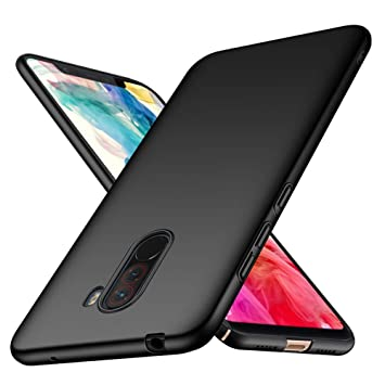 Funda Xiaomi Pocophone F1 TopACE Hard Cover Caso para Xiaomi Pocophone F1 (Negro)