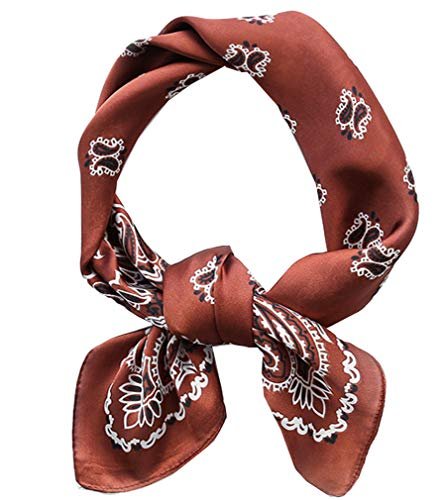 Square Silk Feeling Neckerchief Handbag Hair Scarf Bracelet Gift For Women/Men (FGJ01-18)