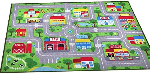 "YOUSA Kids Play Rug City Life Play Carpet 39""x59"""