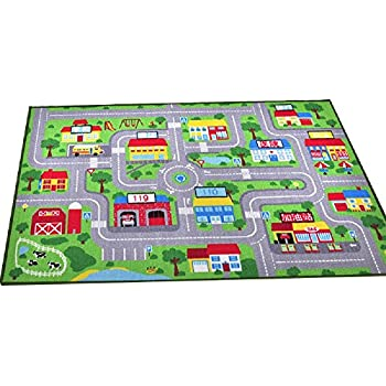 Amazon Com La Rug Country Fun 19 By 29 Inch Play Rug