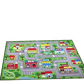 YOUSA Kids Play Rug City Life Play Carpet 39''x59''