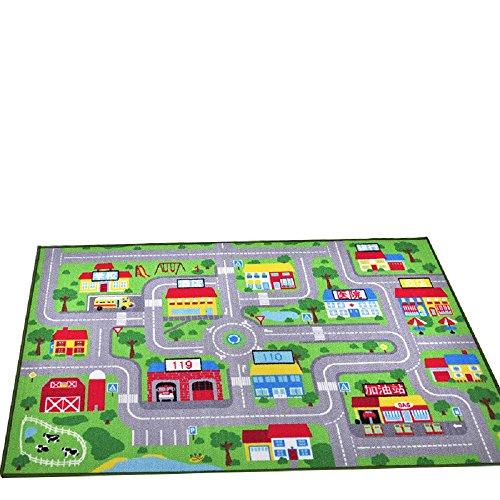 YOUSA Kids Play Rug City Life Play Carpet