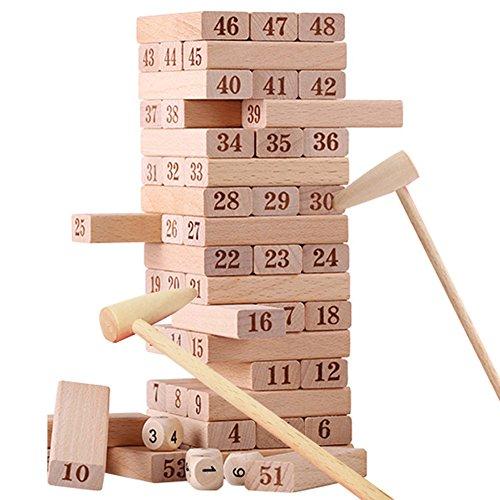 テーブルゲーム 重ね高積み木成人吸い楽児童大きいサイズのケヤキ併木の重ね楽親子インタラクティブデスクトップのおもちゃ、ゲーム