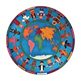 Joy Carpets Kid Essentials Early Childhood Round Hands Around The World Rug, Multicolored, 7'7''