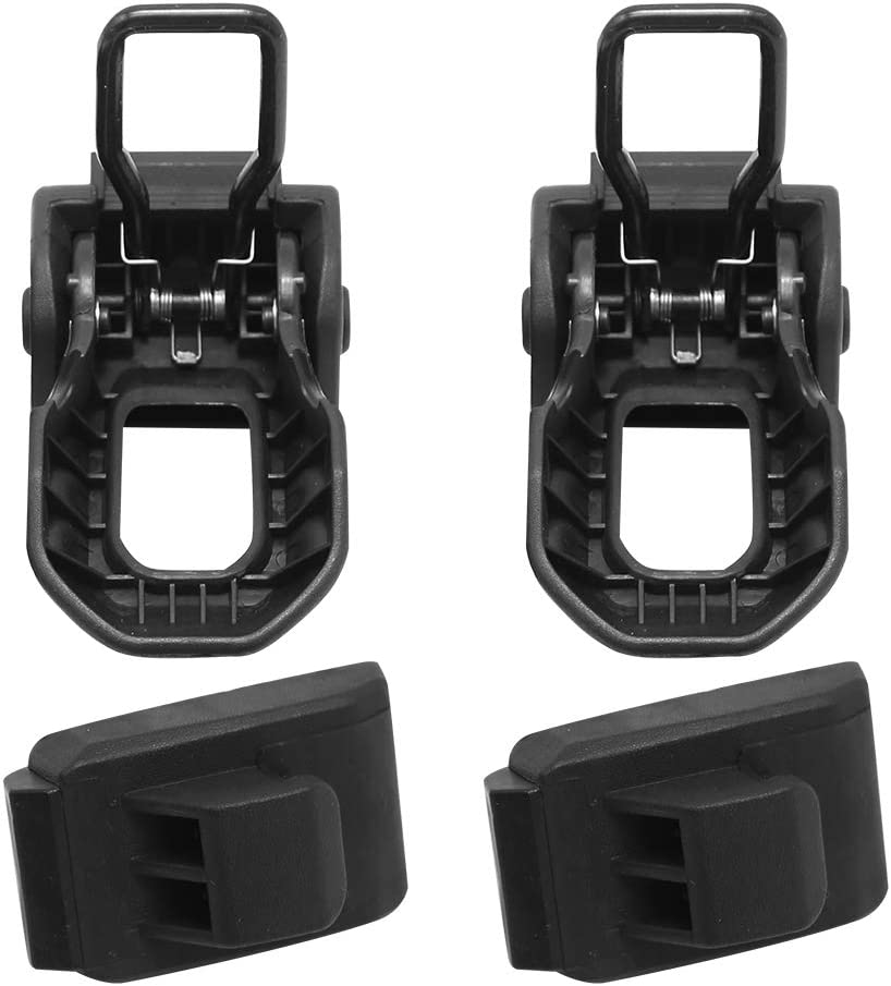 Latch Locking Hood for Jeep Wrangler JL JK 2007-2018 Stainless Steel Black Hood Lock Latch