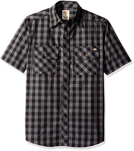 Dickies Mens Short-Sleeve Gingham Shirt