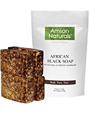 African Black Soap - 100% Natural Pure Authentic Traditionally Made By Hand in Africa (Ghana)