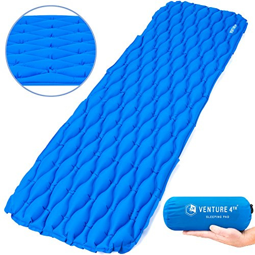 VENTURE 4TH Ultralight Sleeping Pad by Lightweight, Compact, Durable, Tear Resistant, Supportive and Comfy | For Camping, Traveling, Lounging, Sleeping Bags, Hammocks, Hiking and More | (Ultralight Sleeping Pads)