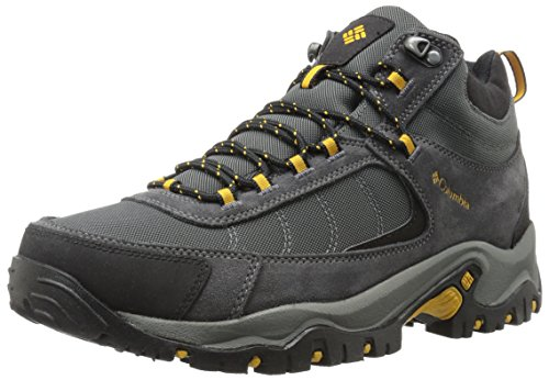 Columbia Men's Granite Ridge MID Waterproof Hiking Shoe, Dark Grey, Golden Yellow, 11.5 2E US