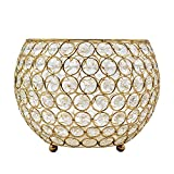 Joynest Crystal Tea Light Candle Lantern Holders, Wedding Coffee Table Decorative Centerpieces for Home Décor Party Mothers Day Birthday House Gifts (8'', Gold)