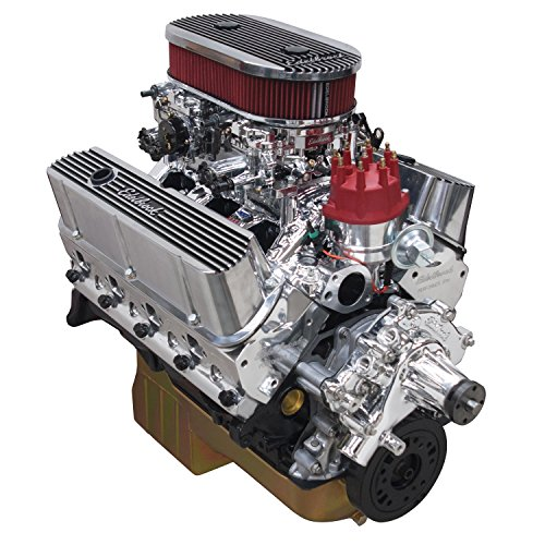 Edelbrock 45474 Performer RPM Dual-Quad Crate Engine  Long Block Incl. RPM Air-Gap Dual-Quad PN[75354]/Thunder 500 AVS/Pro-Billet Dist/Rear Sump Oil Pan Small Block 347cid 449HP Endurashine Performer RPM Dual-Quad Crate - Edelbrock Dual Quad