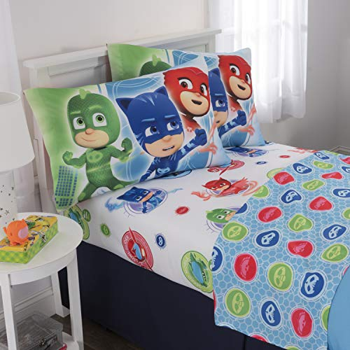 Character Sets - PJMASKS Kids Bedding Soft Microfiber Sheet Set Full Size 4 Piece Pack Full Size 4 Piece Pack