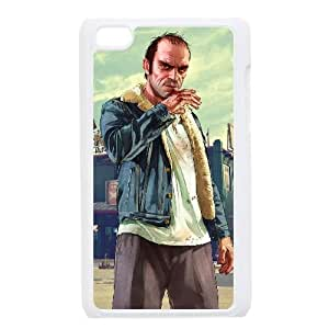 iPod Touch 4 Case White Grand Theft Auto V 027 Ncqgp