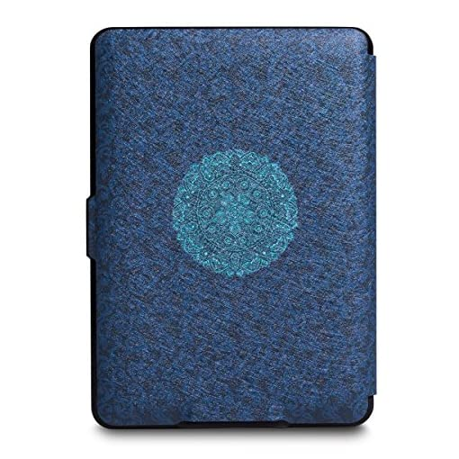 WALNEW Slim Case for Kindle Paperwhite – Auto Wake/Sleep Cover Fits All Kindle Paperwhite Generations Prior to 2018 (Not Fit All-new Kindle Paperwhite 10th Gen 2018), Blue Flower