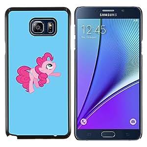 All Phone Most Case / Oferta Especial Duro Teléfono Inteligente PC Cáscara Funda Cubierta de proteccion Caso / Hard Case Samsung Galaxy Note5 5th N9200 // Pony Pink Tail Hore Fairytale Childresn