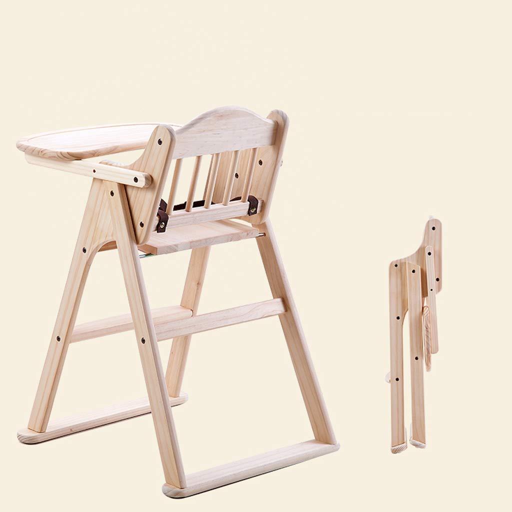 silla comedor Silla de comedor para niños Silla de comedor plegable para mesa de comedor de madera maciza: Amazon.es: Bebé