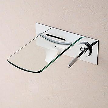 LH@ Explosionen minimalistischen Glas Wasserfall Waschbecken Wand ... | {Armaturen waschbecken wand 54}