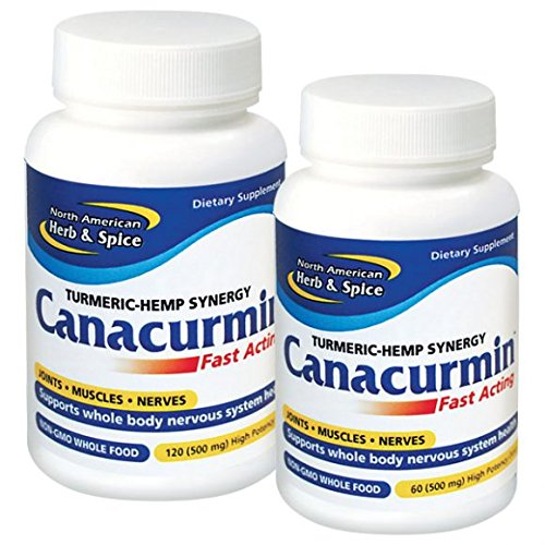 North American Herb & Spice Canacurmin Gels, 120 Count by North American Herb & Spice