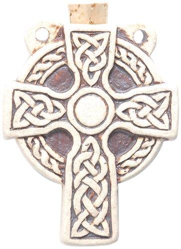 Ceramic Celtic Cross - Peruvian Hand Crafted Ceramic High Fire Celtic Cross Bottle Pendant