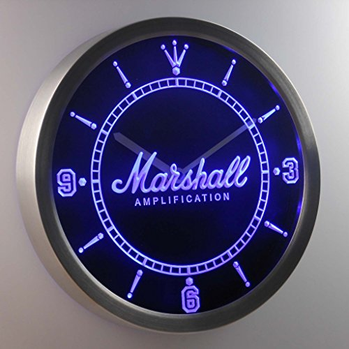 s Amplifier 3D Neon Sign LED Wall Clock NC0437-B ()