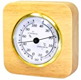Kureseru natural wood thermo-hygrometer tabletop CR-620