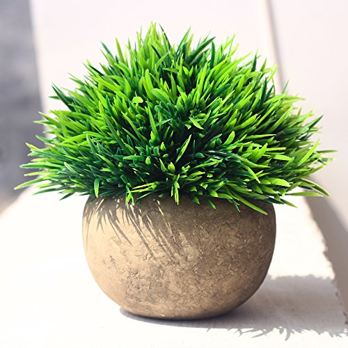 Artificial Plant for Home Decor Grass Lovely Fake Plants in Pot Decoration (Green)