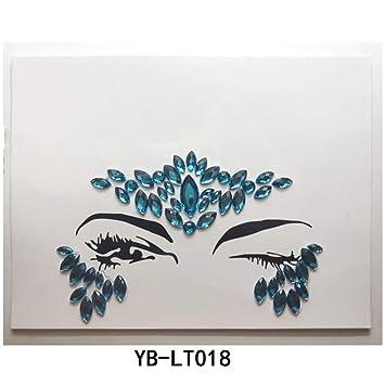 4bedd6f8ef Amazon.com : SAKLL 1PC Christmas DIY Eyebrow Face Body Art Adhesive ...
