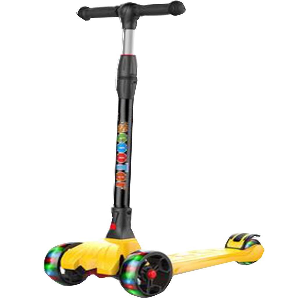 折りたたみ式パーフェクト子供向け高齢者2調整可能な高さに傾くスクーターライトアップホイール軽量の楽しみ屋外おもちゃ子供のためのフィットネス外ゲーム B07QZX6WJ5 C C