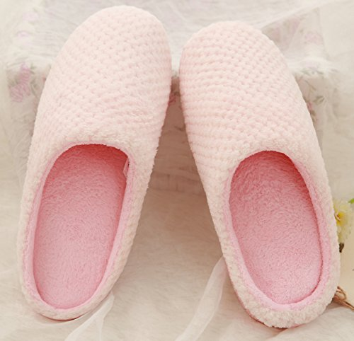 Pink Women's House Women's Fuzzy House Slippers Slippers Fuzzy WtcHw0wU6q