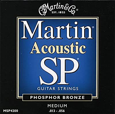 Martin MSP4200 SP Phosphor Bronze Acoustic Guitar Strings, Medium from C.F. Martin & Co.