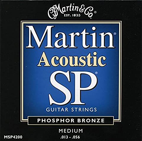 Martin MSP4200 SP Phosphor Bronze Acoustic Guitar Strings, Medium (Acoustic Basses)
