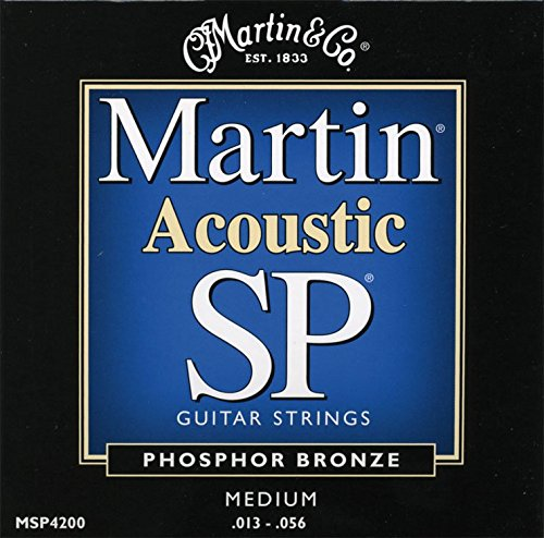 Martin MSP4200 SP Phosphor Bronze Acoustic Guitar Strings, (Martin Acoustic Guitar Strings)