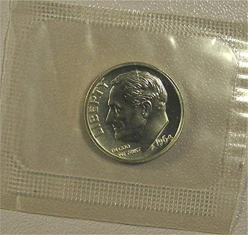 Dime Us 1964 (1964 Silver Roosevelt Proof In Original Cellophane Dime PR-01 US Mint)