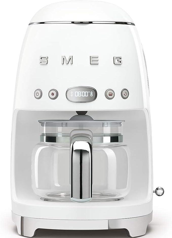 Smeg DCF01WHEU Cafetera Goteo DCF01 9 reseñas, 1050 W, 1.4 litros ...
