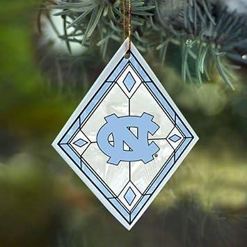 Amazon.com : NCAA North Carolina Tar Heels (UNC) Art-Glass Ornament ...