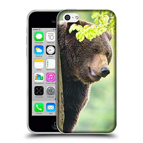 Just Phone Cases Coque de Protection TPU Silicone Case pour // V00004083 ours brun sur un arbre // Apple iPhone 5C