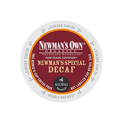 Newman's Own Organics Newman's Special Decaf, Keurig K-Cups, 12 Count (Pack of 6) (Packaging may Vary)