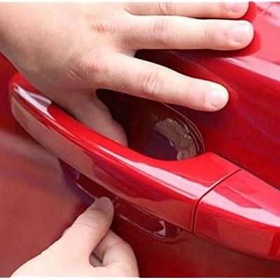 4x Vernis protecteur contre les rayures pour Auto Poignée de porte Poignées de poignées latérales et türgri ffmulden Sticker autocollant Transparent-Pour chaque voiture Compatible INION®